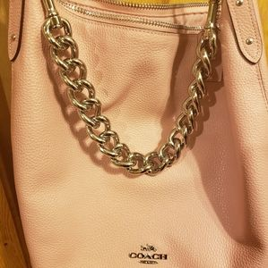 Coach Leather Chain Abby Pink Purse